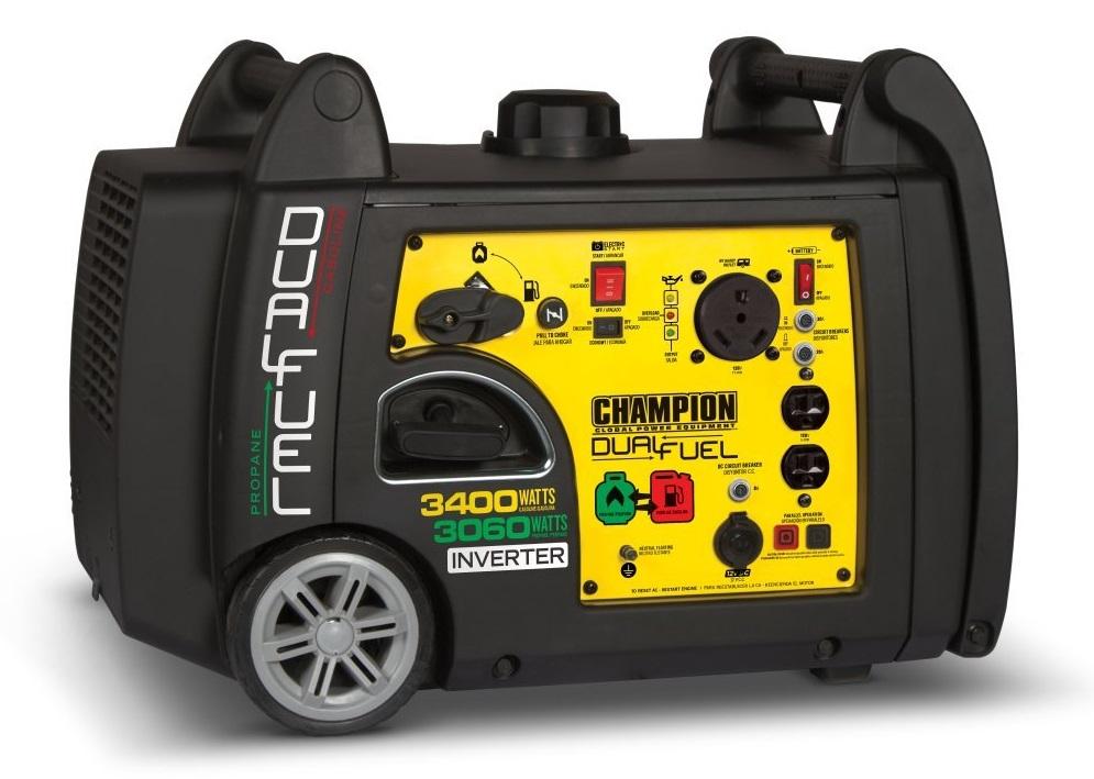 Champion 3400-Watt Dual Fuel Inverter Generator for Home