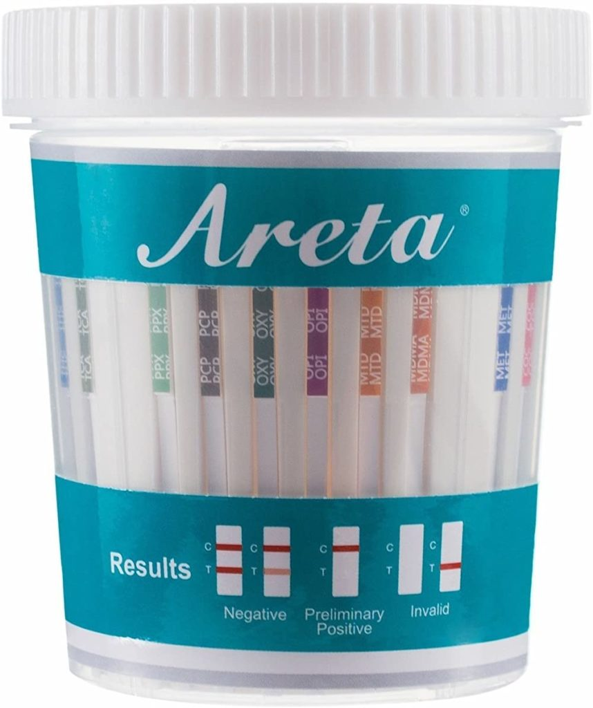Areta 14 Panel Drug Test Cup Kit with Temperature Strip