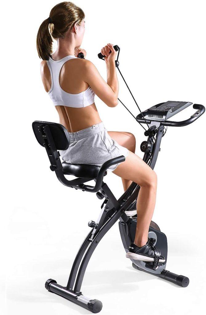 MaxKare Folding Magnetic Exercise Bike