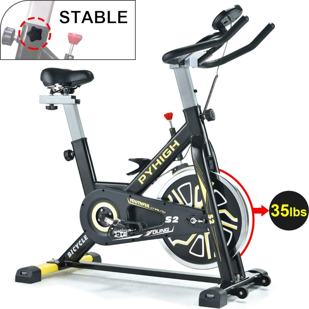 PYHIGH Bicycle Exercise Bikes with LCD Monitor for Home