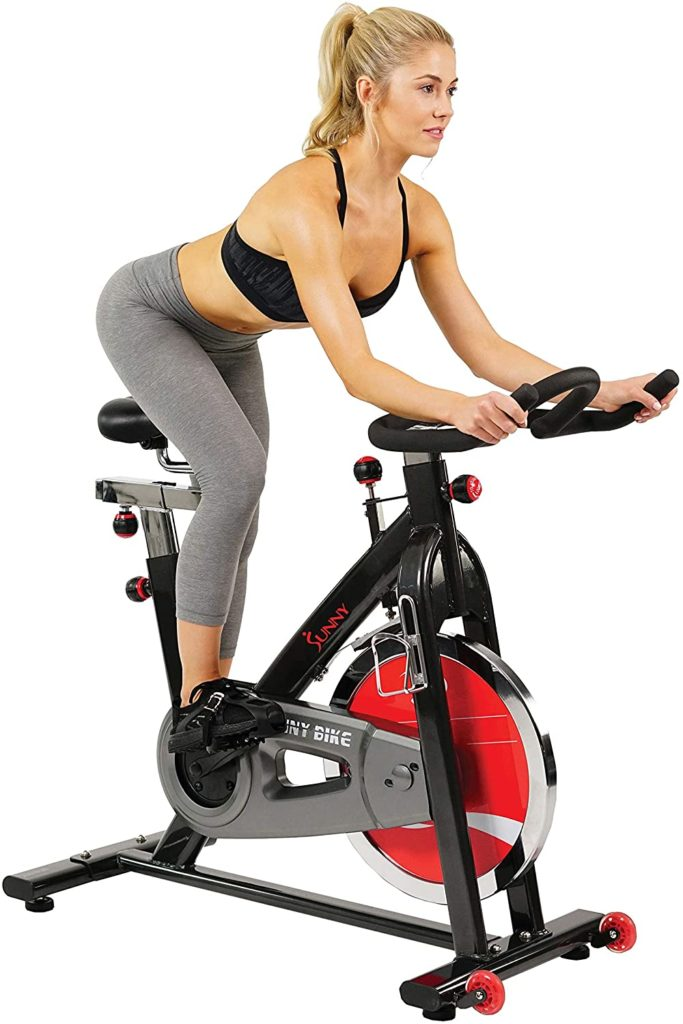 Sunny Health & Fitness Exercise Bike with Resistance